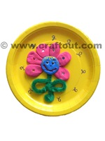 flower-craft-clay-paperplate