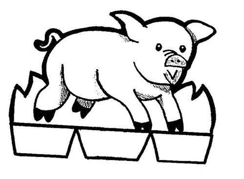 11-Belén recortable 001 cerdo