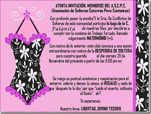 Textos de invitaciones a despedida de soltera - Imagui