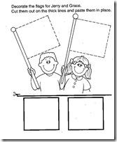 niños banderas cuadrado