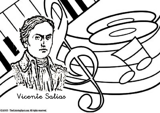 Colorear Día del Himno Nacional de Venezuela   Colorear dibujos