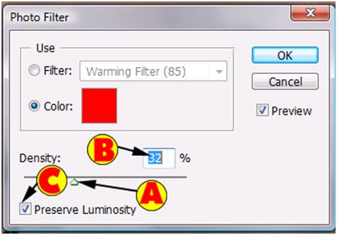 Photo Filter Density