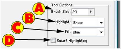 Extract Tool Options