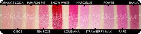 NYX Round Lipstick Swatches Part 1