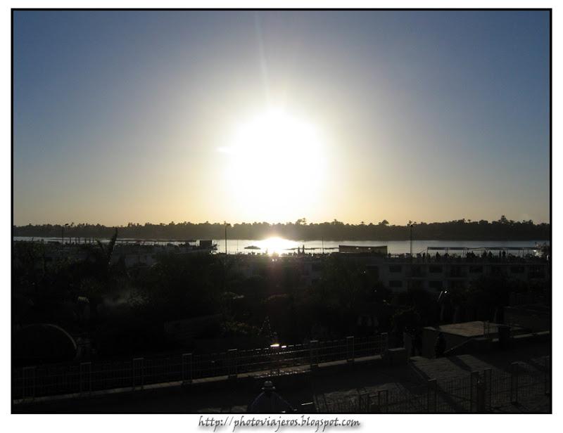 Atardecer sobre el Nilo