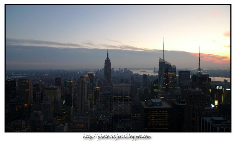 Atardecer sobre Manhattan