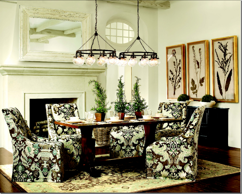 Cote de texas ballard designs presents james swan for Ballard designs dining room