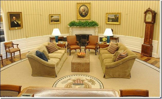 oval office design.  Design The Newly Designed White House Oval Office Was Announced This Tuesday  Biggest Decorative Changes Are The Addition Of Gold Striped Wallpaper And  And Design F