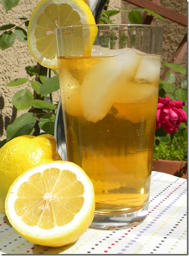 Iced tea in the garden