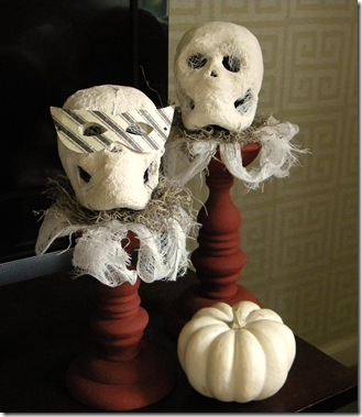 Whimsical mummy heads