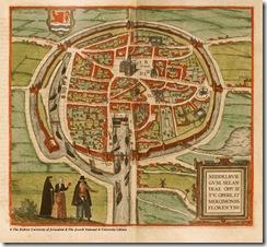 Старинная карта Мидделбурга (XVI век)