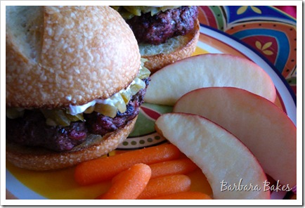 Green Chile and Cream Cheese Burgers