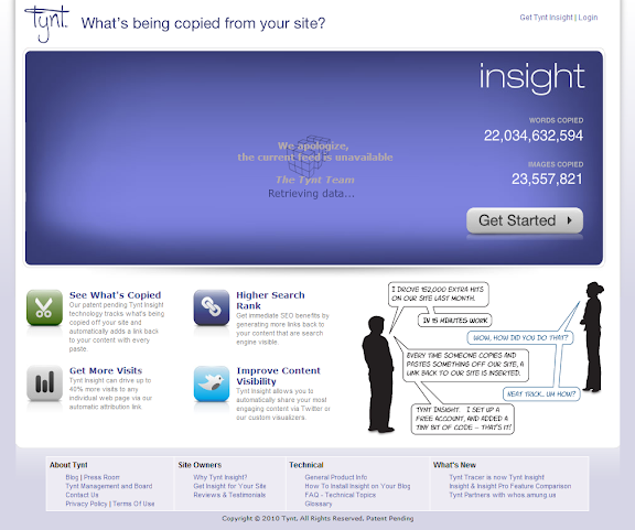 Tynt Insight Home Page Prevents to copy the content of blog image