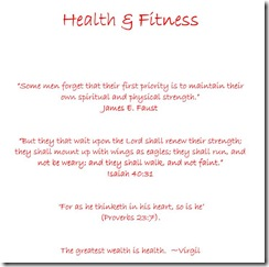 Household Planner title health - fitness view
