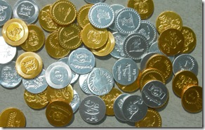 personalized chocolate coins