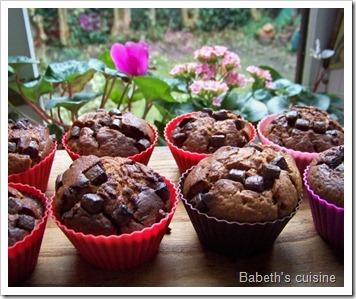 muffins choco lait pépites noires 2