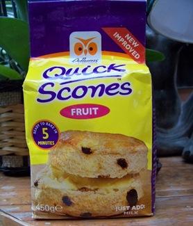 sachet prep scones