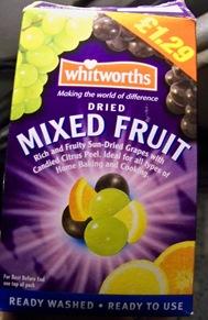 boite raisins secs