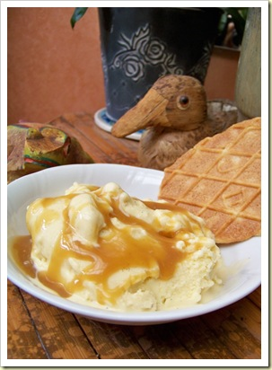 glace vanille butterscotch sauce