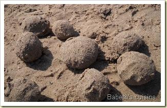 boulettes de sable