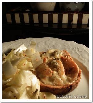 toast poires gorgonzola