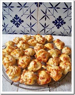 mini muffins comté lardons moutarde