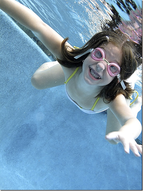 Jillian underwater