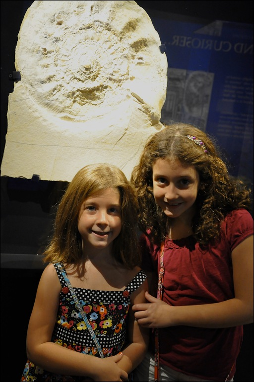 Abby and Jillian at museum