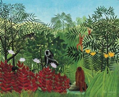Henri Rousseau, Forêt tropicale avec singes, 1910, Huile sur toile