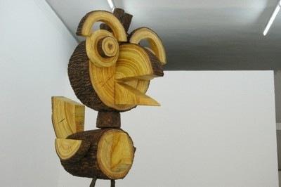 Photo de la sculpture de Vincent Kolher, Woody, 2009