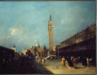Francesco Guardi, Vue de la Place Saint-Marc, Huile sur toile, Vers 1760-1770