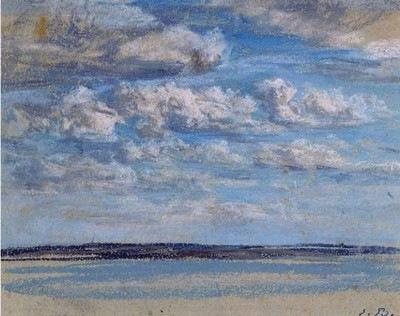 Eugène Boudin, Nuages blancs, ciel bleu, vers 1854-1859