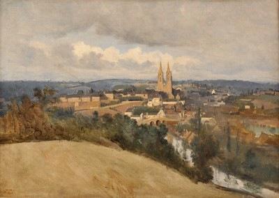 JEAN-BAPTISTE COROT, Vue générale de la ville de Saint-Lô, 1833