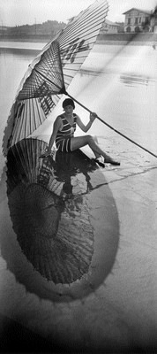 Jacques Henri Lartigue, Bibi, shadow and reflection. Hendaye August 1927. Photograph by JH Lartigue