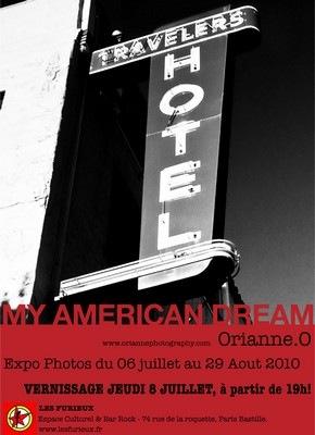 Affiche de l'exposition d'Orianne O., My American Dream, 2010.
