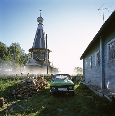 Church of St Alexander Svirsky (1769), Kosmozero, Medvezhegorsk district, Karelia - Photograph by Richard Davies