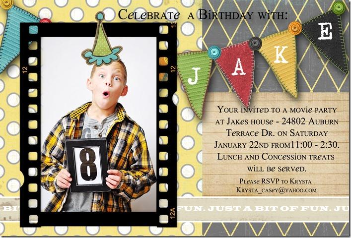 J - BDay Invite