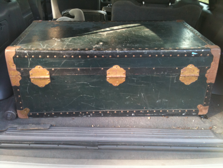Antique, vintage, trunk