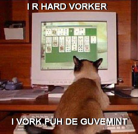 I R HARD VORKER I VORK FUH DE GUVEMINT