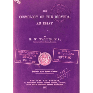 The Cosmology Of The Rigveda Cover