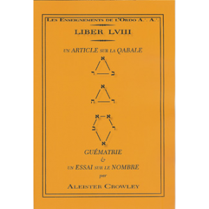 Liber 058 Qabalah Or An Essay Upon Number Cover