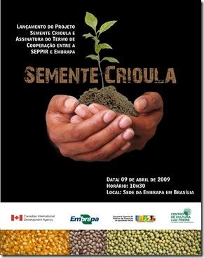 convite semente crioula