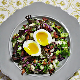 Mixed Greens With Eggs And Bacon