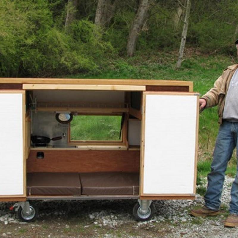 Casa móvel para mendigos e sem teto
