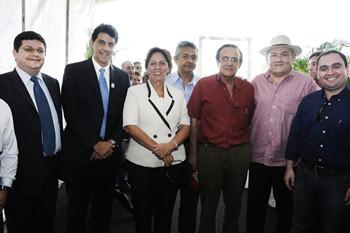 Hugo Seabra, Rosalba Ciarlini e deputados Leonardo Nogueira, Vivaldo Costa e Gustavo Fernandes