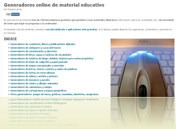generadores online material