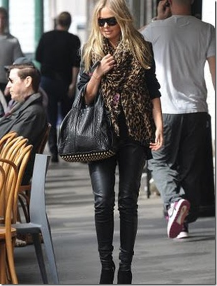 Lara Bingle Leopard Print Scarf