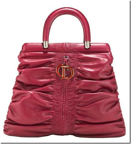 christian dior framed-tote cranberry