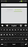 Screenshot of Black Keyboard