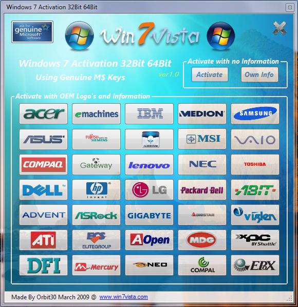 windows 7 all version activator
